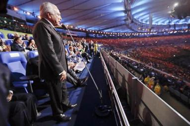 Rio Paralympics opening ceremony, new President attended the ceremony