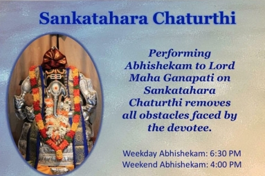 Sankatahara Chaturthi - Maha Ganapati Temple of Arizona