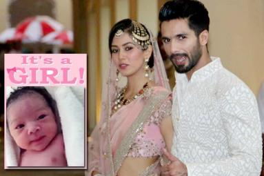 Shahid and Mira Blessed with a Baby Girl