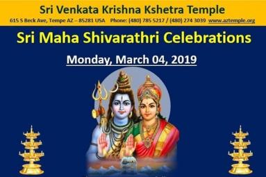 Sri Maha Shivrathri Celebrations - SVK Temple