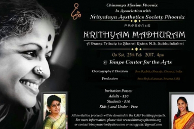 CHINMAYA MISSION FUNDRAISER In association with NRITHYALAYA AESTHETICS SOCIETY Phoenix
