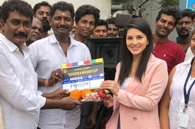 Sunny Leone's Veeramdevi Starts Rolling