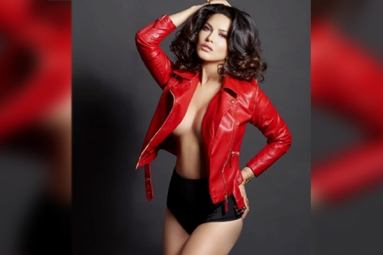 Sunny Leone Stuns in a Red Jacket
