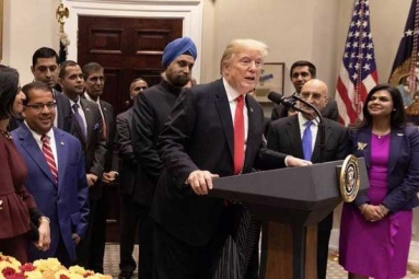 Trump Praises India-Americans for Playing Incredible Role in His Admin