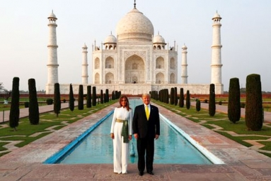 President Trump and the First Lady's visit to Taj Mahal in Agra