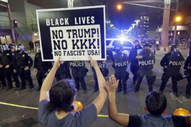 Activists Denounce Police Aggressive Behavior After Trump's Rally On Tuesday