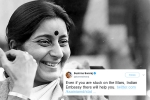 sushma swaraj was a rockstar on twitter, mother to Indians starnded abroad, these tweets by sushma swaraj prove she was a rockstar and also mother to indians stranded abroad, Visa