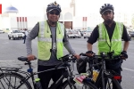 india to mecca by cycle, hajj on bicycle from india, two indian men cycling to mecca for haj while fasting for ramadan, Uae