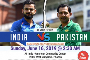 India Vs Pakistan - WC 2019 Watch Live On Big Screen