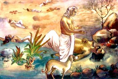 Yudhishthira Reaches Heaven With His Earthly Form