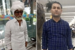 young man posing as senior citizen, Jayesh patel, young man caught posing as senior citizen to fly to abroad, Pants