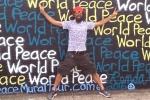 Mural Artist Hoping World Peace