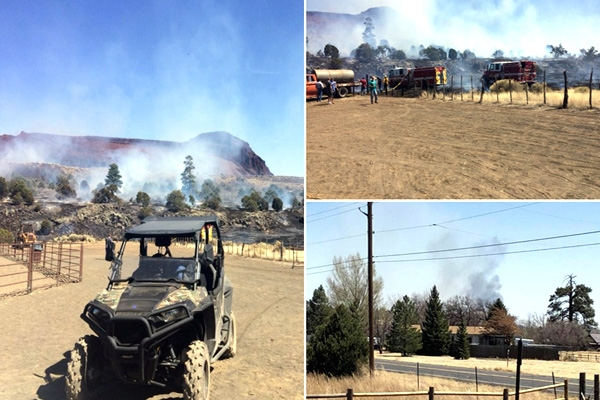 Evacuation Of Community East Of Flagstaff Forced By Brush Fire