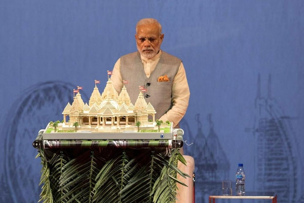 Narendra Modi to Lay Stone for Abu Dhabi's First Hindu Temple by Video or in Person on April 20