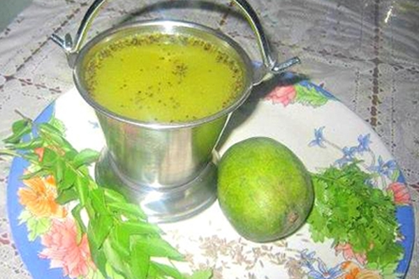South Indian style soup - Mango Rasam