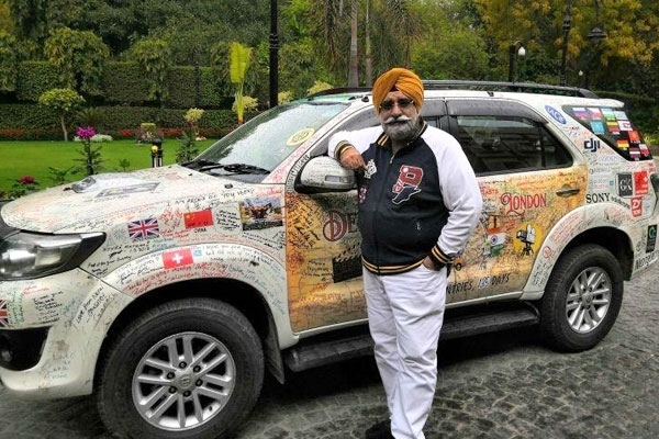 Meet 60-Yr-Old Traveler Who Completed Road Trip from Delhi to London Covering 33 Countries in 150 Days