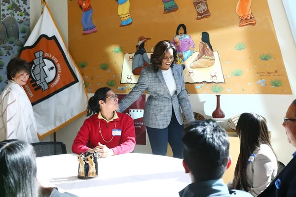 Michelle Obama Pays Surprise Visit to Gila River Indian Community Students