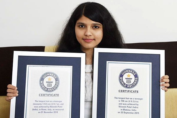 The Gujarat Teen has Set a World Record with Hair over 6-Feet Long